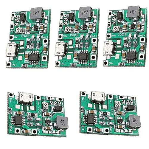 Oplaadmodule 2A 18650 Oplaadmodule Lithium Li-ion Batterij Module Boost 3.7V tot 5V 9V 5 STKS
