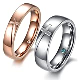 ZAKAKA 指輪 メンズ ステンレス レディース ペアリング セットカップル指輪10号12号 14号 16号 18号 21号 23号を提供する 婚約) (メンズ, 18)