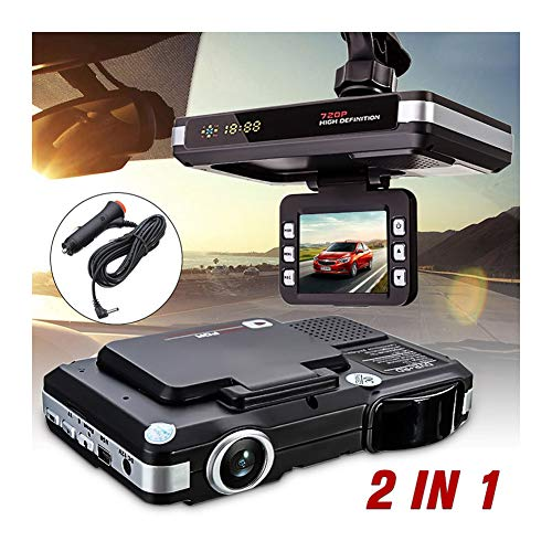 Best Bargain KIKBLW HD Car DVR Camera, 2 in 1 720P HD Recorders Radar Laser Speed Detector DVR Camer...