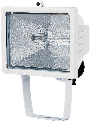 Brennenstuhl Halogenstrahler / Flutlicht Halogen ideal als Baustrahler zur Montage auf Stativ (Außenstrahler IP54 geprüft, 400 Watt) Farbe: weiß