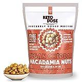 KetoDose Macadamia Nuts - Cheddar Flavored Roasted Macadamia Nuts - 1G Net Carb - Sugar-Free Keto...