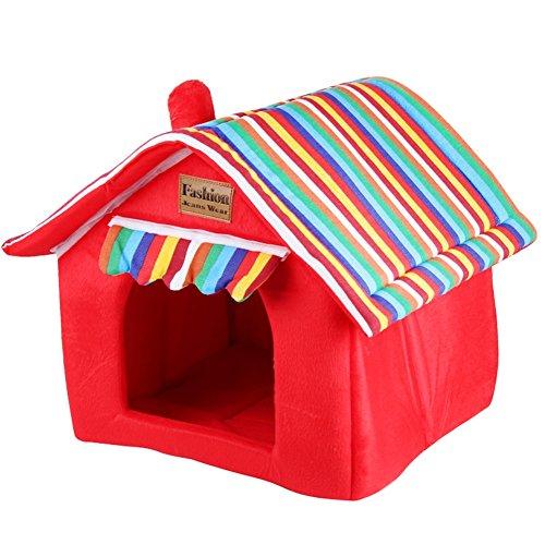 YNZYOG Chats et Chiens Chambre/Maison pour Animaux Boite Rouge XS/S/M/L/XL (Taille : M-37*37*28*43.5cm)