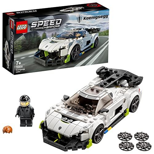 Zestaw konstrukcyjny LEGO® Speed Champions 76900 Koenigsegg Jesko — najlepsza zabawkowa replika samochodu dla dzieci (280 elementów)