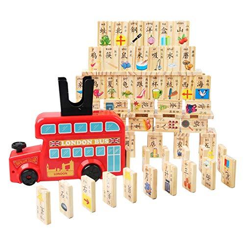 Domino Juego de tren, los bloques del dominó Conjunto, Construcción y apila juguete Set Domino por 3-7 Year Old juguetes, juguete multiusos de la Infancia, la diversión educativa Rompecabezas Asamblea