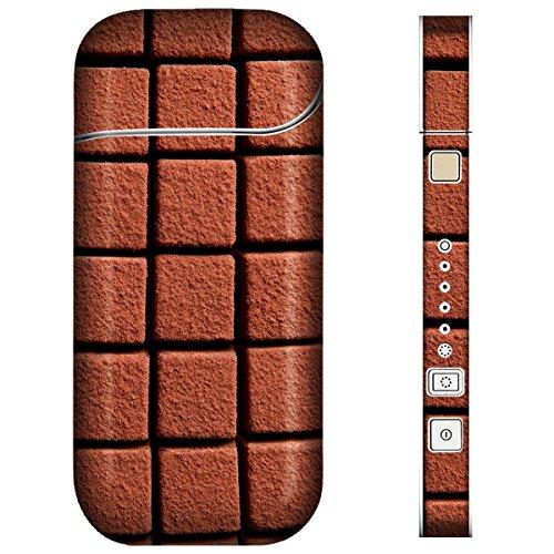 iQOS アイコス スキンシール 【 チョコ/お菓子/フルーツ チョコ-ブロックチョコ 柄 】表面・裏面・側面セット 2016年発売バージョン対応