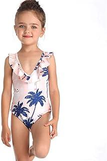 HUAANIUE Costume da Bagno Donna a Maniche Lunghe Costume Intero UPF 50 UV Costume da Bagno Stampato Nuoto Bambino Costume da Bagno Impermeabile a Cerniera 4-12Y