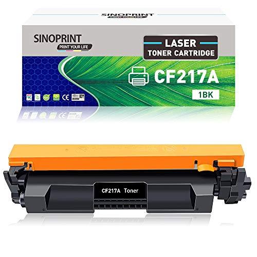 SINOPRINT - Cartucho de tóner Compatible para Impresora HP 17A CF217A Laserjet Pro M102a M102w M130a M130fn M130fw M130nw HP17A HPCF217A (Negro, 1 Unidad)