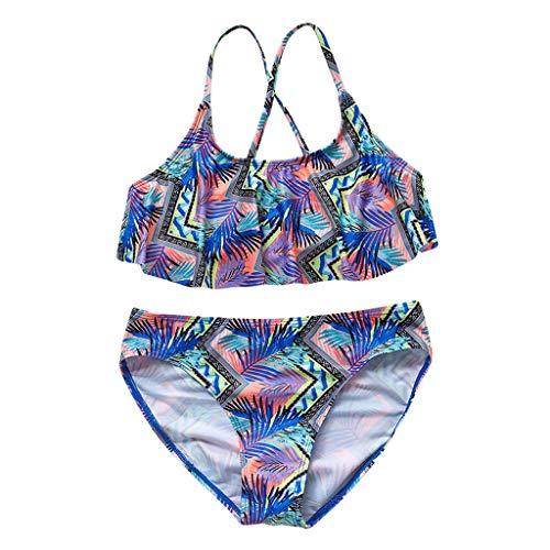 Tefamore BañAdor NiñA Conjunto De Bikini NiñAs Chica Imprimir Verano Ropa De Playa Traje De BañO Traje De BañO Bikini Ropa Trajes