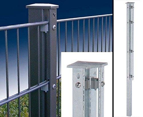 bambus-discount.com Ranko Eckzaunpfosten 200cm anthr. 60x60mm für Doppelstabmatten 140cm, zum einbetonieren