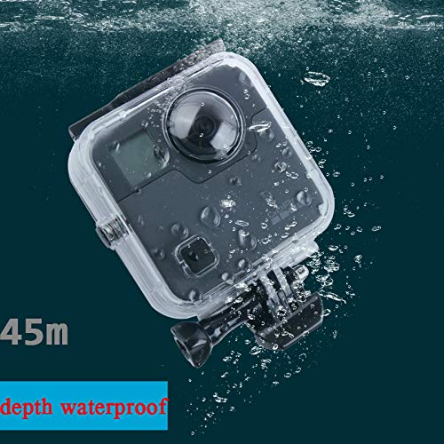 Leoie for GoPro Fusion 360-degree Camera Waterproof Housing Case 45M Underwater Diving Box Protective Case