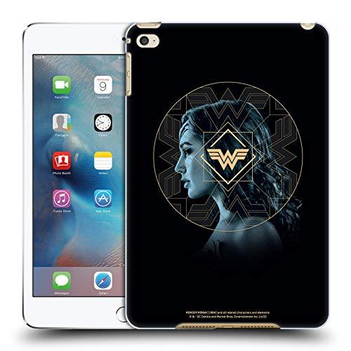 Official Wonder Woman 1984 Gold Portrait Logo Art Hard Back Case Compatible for Apple iPad mini 4