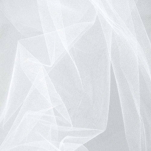 1 mètre Blanc Lumière Poids rigide robe net Tissu Veil net Tissu Matériau Ultra Fish Net en tissu maille filet tutu voile de mariage robe de mariée en tulle rigide clair net net