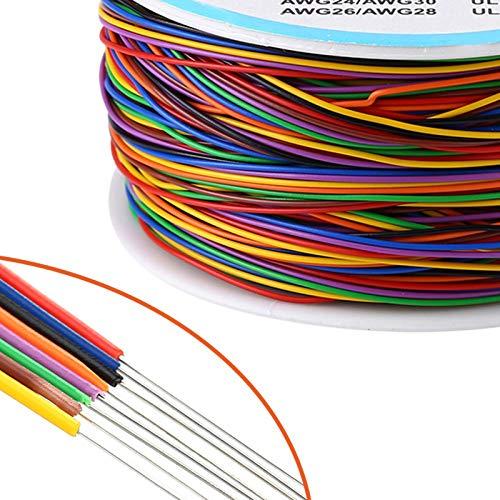 Cable Eléctrico Colores, 8 Hilos, Cable de Cobre Estañado de Prueba, Flexible,...