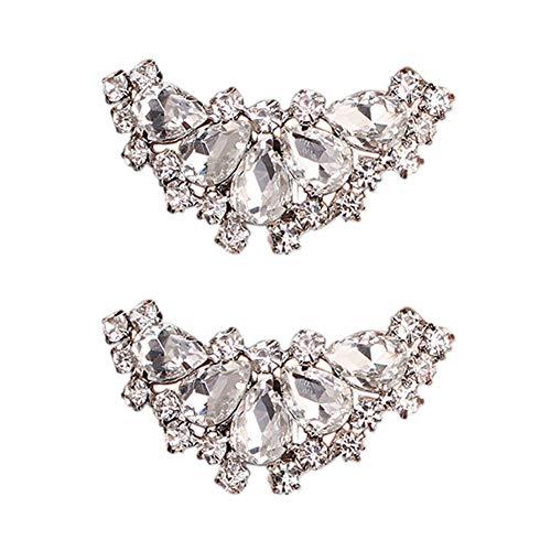 Jiacheng29 - Broche de diamantes de imitación para zapatos con forma de...