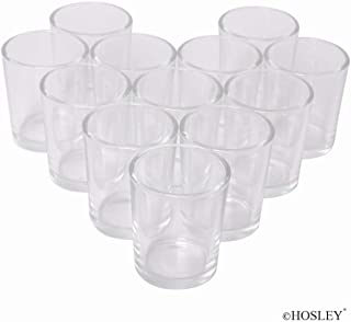 Hosley Set of 72 Clear Votive Tea Light Glass Candle Holders. Ideal for Parties Wedding Special Events Aromatherapy and Everyday Use Tealights O2