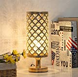 FGDSA Lámpara De Mesa De Cristal, Lámpara De Mesa Dorada Simple Moderna, Lámpara De Noche para Decoración De Cabecera En La Sala De Estar Y El Dormitorio