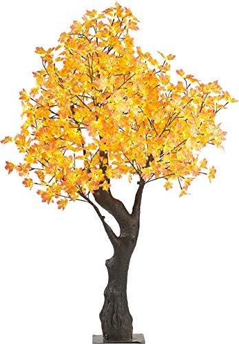 Luminea LED Deko Baum: LED-Deko-Ahornbaum, 576 beleuchtete Herbstblättern, 200 cm, für innen (Garten LED Deko Beleuchtung)