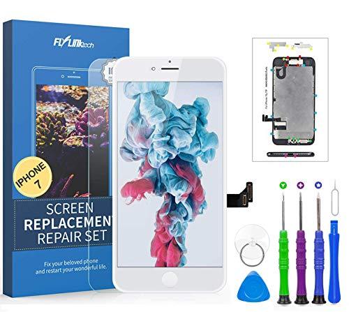 FLYLINKTECH Touch Screen per iPhone 7 Schermo Display LCD Vetro Digitizer Parti di Ricambio Kit Smontaggio trasformazione Completo di Ricambio - Utensili Inclusi
