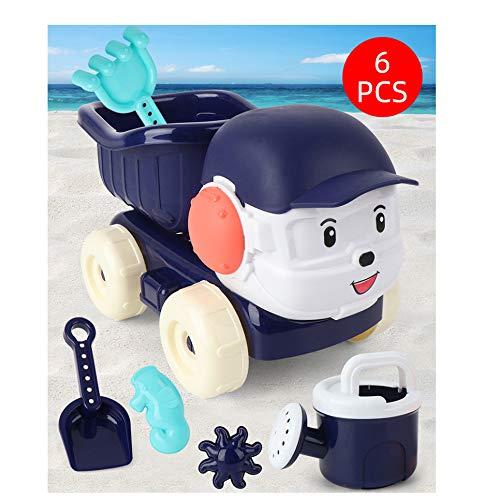 Strand Speelgoed Met Dumpers, Outdoor Zandbak, Speelgoed Voor in Bad, Met Inbegrip Van Modellen En Mallen, Hark Emmer Kind Tot Kleuter, Veelkleurig,Blue