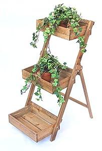 DanDiBo Blumentreppe Fiora aus Holz 90 cm Blumenständer Pflanzentreppe Blumenregal Regal