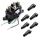 KanSmart Winch Solenoid 12V 250A Relay Contactor Thumb Truck with Protecting Caps Compatible with ATV UTV 4x4 vehicles