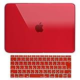 MS factory MacBook Pro 13 ケース カバー + 日本語 キーボードカバー マックブックプロ 13インチ ハードケース Pro13 2017 2016 タッチバー なし A1708 全11色 クリスタル レッド 赤 RMC series RMC-SETP13NTB-XRD