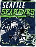 The Northwest Company NFL Seattle Seahawks '40-Yard Dash' Micro Raschel Throw Blanket, 46' x 60' , Blue