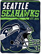 """Features NFL team colors, logo, helmet, and established date Soft and warm micro raschel fabric; decorative binding around all edges Measures 46""""W x 60""""L Machine wash cold separately using delicate cycle and mild detergent. Do not bleach. Machine dry..."""
