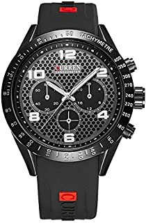 Wristwatch for men Curren distinctive sporty design black color
