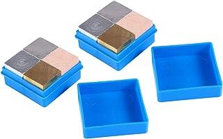 Hemobllo 8Pcs Density Cube Set Equal Mass Metal Cubes Set Copper Aluminum Iron Wood Cubes for Density Investigation Specif...