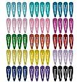 60Pcs Pinces à Cheveux Clips Antidérapants 2 Pouces étudiant Coloré Décoration En Métal Gros Clip En Forme De Larme épingles Accessoires Barrette En épingle Pour Enfants Filles Femmes