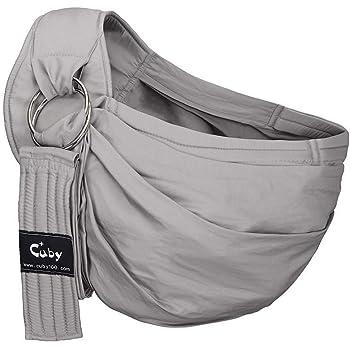 CUBY 新生児 ベビースリング 抱っこひも おんぶ 調節可能抱っこひも (グレー)