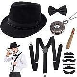 specool 1920s Jahre Herren Accessoires, 20er Gangster Kostüm Rockabilly Mafia Gatsby Flapper...