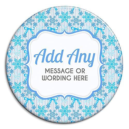 Acuarela Navidad Let it Snow V1 Personalizado Insignia Personalizada (5,8 cm)