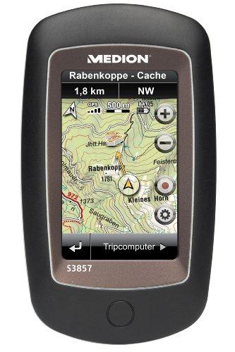 Medion GoPal S3857 Tragbares Navigationssystem (7,7 cm (3 Zoll) Touchscreen-Display, 3D Kompass, Kartenausschnitte) schwarz
