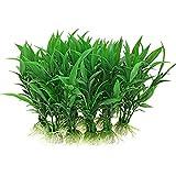Y56 10PCS Kunststoff künstliche Gras Dekoration Wasser Aquarium Fisch Tank Pflanze Kreatur WasserpflanzenAquarium Dekoration Dekor Landschaft Kunststoff Pflanzen für Fische