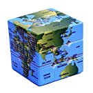 World Map Cube 3x3x3 Puzzle Map Learning Tool Speed Smoothing Easy to Turn Educational Toys Gifts