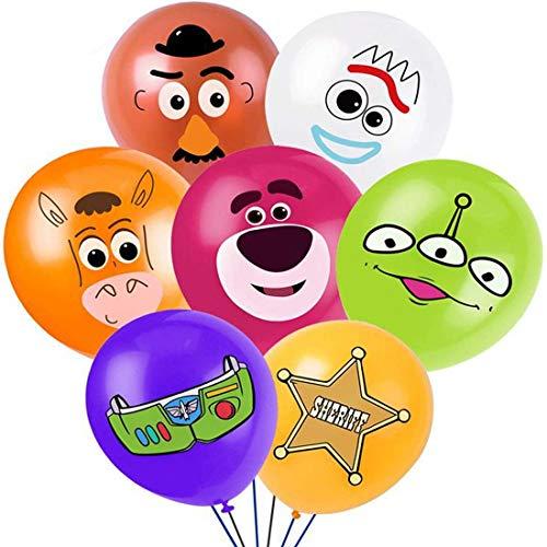 Toy Story Party Supplies - YUESEN 28PCS Toy Story Birthday Party Globo de látex, Toy Story Fiesta de cumpleaños Suministros Decoración para decoración de fiesta de cumpleaños para niños