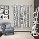 Par de cortinas de bolsillo para barra Vickery para sala de estar, panel doble, 71 x 160 cm, gris