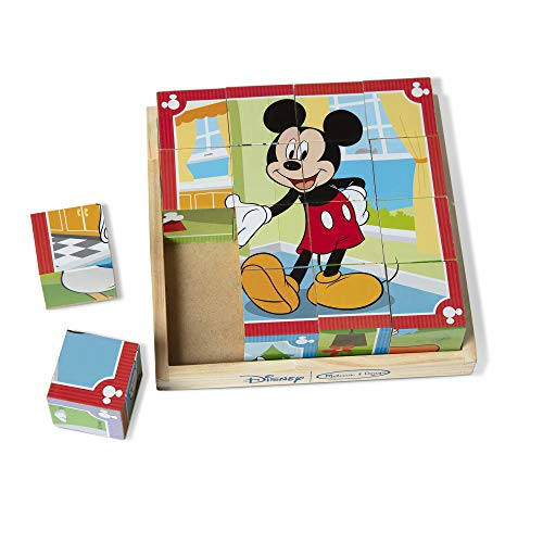 Melissa & Doug Disney Mickey Mouse Wooden Cube Puzzle