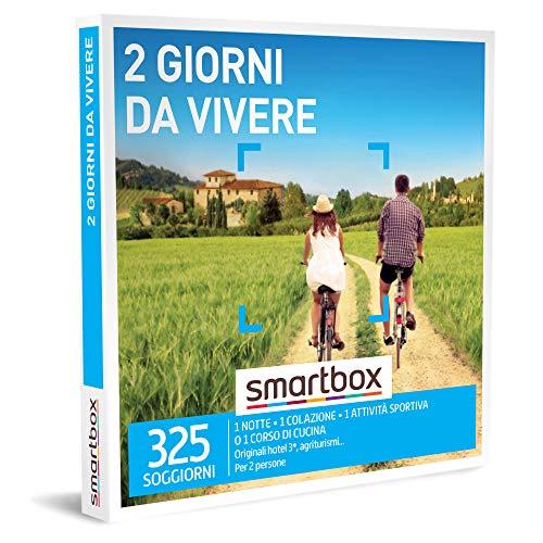 Smartbox -Due Giorni da Vivere - Cofanetto Regalo Coppia, 1 Notte con Colazione e 1 Attività per 2 Persone, Idee Regalo Originale