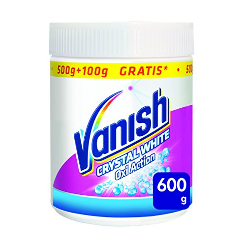 Vanish Oxi Action Crystal White Polvere, Smacchiatore per Capi Bianchi, 600 gr