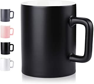 Ceramic Cup,NEWANOVI Smooth Frosted Porcelain Mug, Coffee Mugs, Tea Cup, for Office and Home, Health Gift, Maximum Capacity 16.9oz, Black