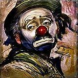 Geiqianjiumai Hauptdekorations-Rahmendekoration des Plattenölgemäldes Klassische Clownkulturkunstwand