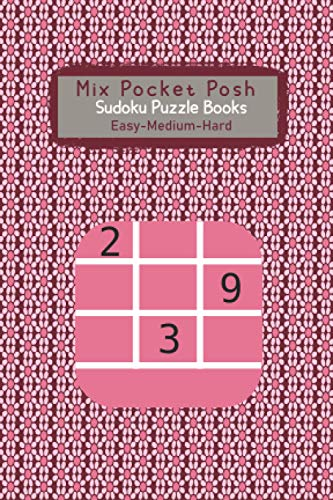 Mix Pocket Posh Sudoku Puzzle Books । Easy Medium Hard: 4