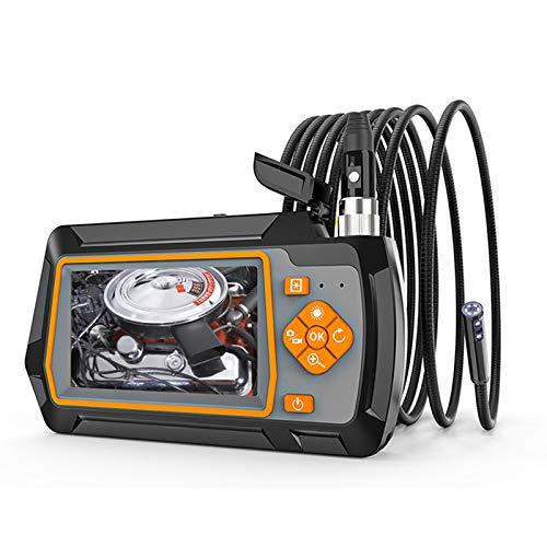 SHUFEI Endoskop Der 5,5mm Inspektionskamera Mit Zwei Objektiven 4,3 Zoll IPS Bildschirm wasserdichte Endoskop Schlangenkamera Mit 6 LED FüR Die Inspektion Der Kanalisation des Autos,3m