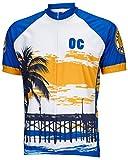 World Jerseys Men's Orange County Cycling Jersey Medium Blue/White