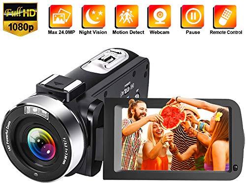 classement un comparer Caméra vidéo Full HD 1080P 30FPS 24.0MP Caméra vidéo numérique Full HD Caméra de vision nocturne IR…