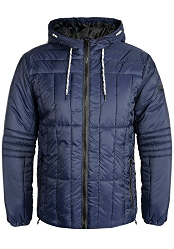 Blend Santiago Herren Steppjacke Übergangsjacke Jacke mit Kapuze, Größe:XL, Farbe:Dark Blue (74629)