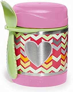 Skip Hop Forget Me Not Big Kid Mealtime Stainless Steel Insulated Food Jar and Spork Set,Multi Heart